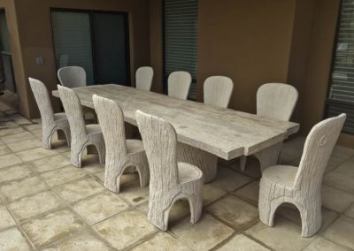 Faux Bois Concrete Furniture